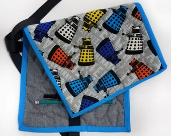 Quilted Pencil Case - Dalek/Grey