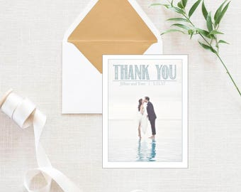 Thank you printable photo card thank you card custom thank you personalized wedding thank you wedding thank you card photo card printable