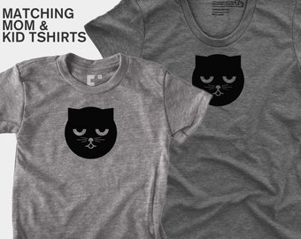 Sleepy Watson the Cat - Matching Shirts (Women & Kid)