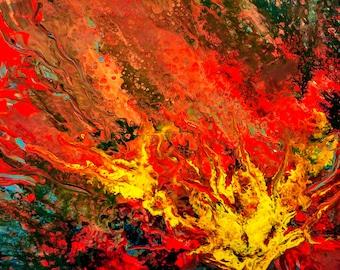 Flüssigkeit Kunstdruckpapier gedruckt abstrakt original Gemälde Acryl Flüssigkeit Acryl-Malerei abstrakte original Gemälde Giclée-Druck