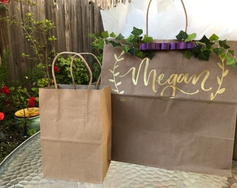Hand Lettered/Embossed Gift Bags