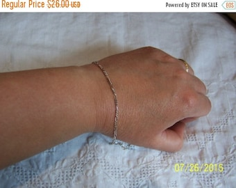 20% OFF VALENTINES SALE Vintage Links Bracelet. Sterling silver.