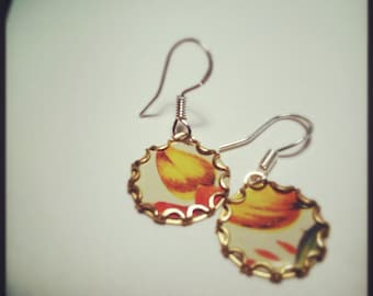 MISS MUSTARD Vintage Tea Tin Floral Earrings