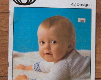 vintage knitting patterns Sirdar Baby Plus 42 designs