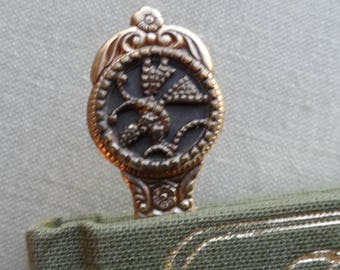 Bookmark, Antique Button, Butterfly
