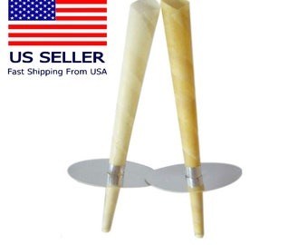 100% Pure Natural Beeswax Ear Candles (1 pair) Unscented and Lavender with Protective Disks   Earwax Candling Cone Kit