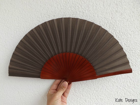 Std Plain Brown Wooden Hand Fan