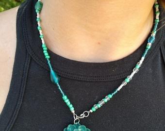 Blooming Aqua Necklace