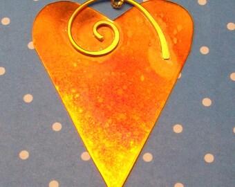 Heart Shaped Copper Ornament Home Decor