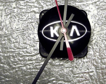 KIA Car Clock - Recycled Wall Clock - Mini Clock