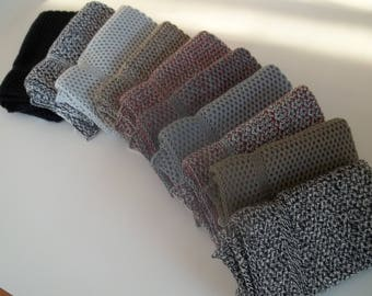 Dishcloths Knit in Cotton in Blacks and Greys, Wash Cloth, Napkins,