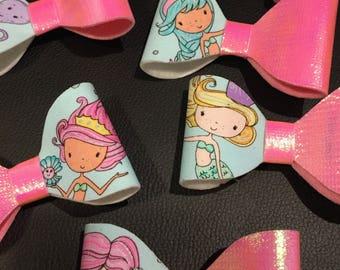 Mermaid bow headband and clips