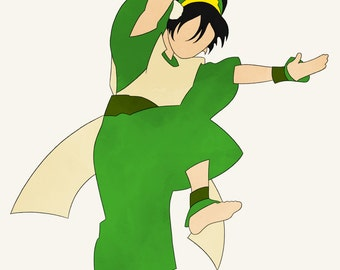 Avatar The Last Airbender Toph Beifong earth kingdom earthbender metalbender
