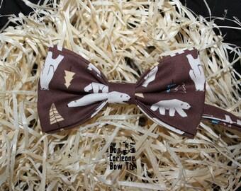 Brown Polar Bear Bow Tie, Wedding Bow Tie, Bow tie for men, bow tie, boys bow tie, bow tie men, mens bow tie, cool bow tie, bear bow tir