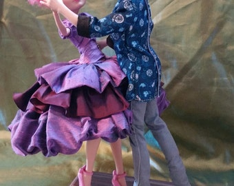 The Dance, Is a One of a Kind 12 inch Ostrich Egg Art Doll Couple