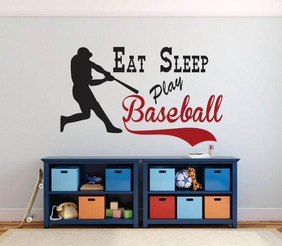 Superb Baseball Wall Decal Eat Sleep Play Baseball Baseball Decor