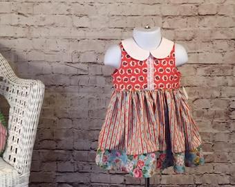 Baby Girl Dress 9-12 month // Baby Shower Gift // Holiday Dress // Princess Dress // Gift for baby girl // Original Handmade baby dress