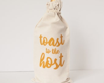 hostess gift, hostess gift idea, wine gift bag