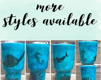 Sea turtle, Honu, Tumbler, wine glass, Turtle tumbler, hawaiian tumbler, ocean tumbler, shark tumbler