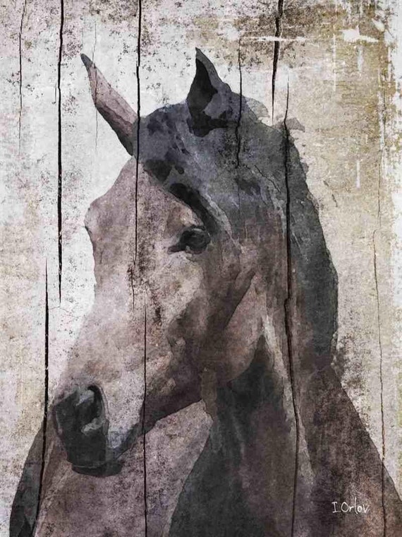 Horse lemuse extra large horse unique horse wall decor brown rustic horse large farmhouse canvas art print up to 72 by irena orlov