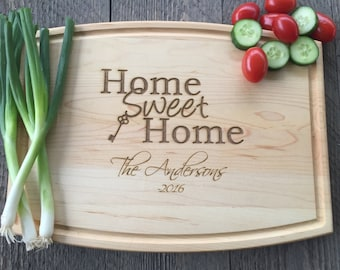Cutting Board, Realtor Closing Gift, Home Sweet Home, Cutting Board, Housewarming gift, New Home Gift, First Home Gift, Personalized