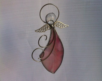 Little ROSE Angel - Stained Glass - Sun Catcher - Window Decor - Guardian Angel - Debera Temperton