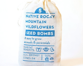 Seed Bombs Native Rocky Mountain Wildflower Gardening Gift