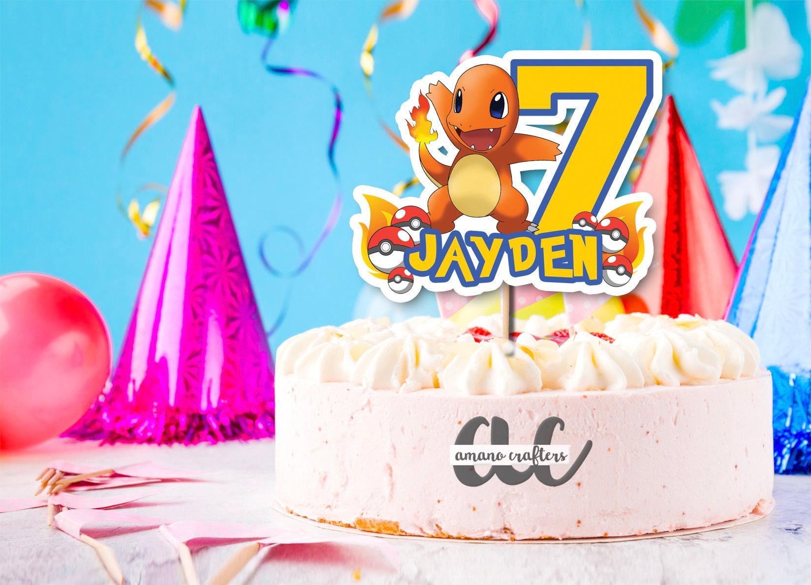 Pokemon Cake Topper Kids Cake Topper Birthday Party