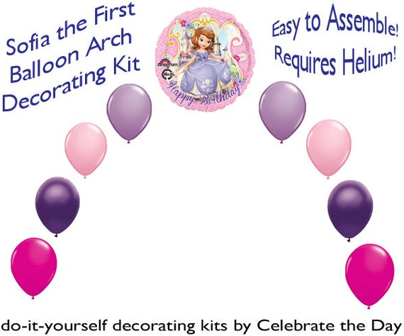 Birthday sofia the first balloon arch diy kit party decoration solutioingenieria Images
