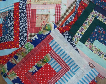 lovely hand stitched quilt pieces