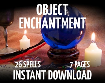 7 Book of Shadows Pages on Object Enchantment, Witchcraft, Wicca, Charmed, BOS Pages, Witchcraft Book, Digital Download Wicca Printable