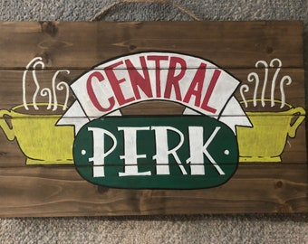 Friends Themed 'Central Perk' Wooden Sign