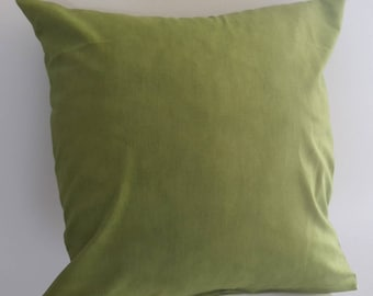 moiré, pistachio green cotton fabric Cushion cover