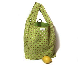 Hedgehog bag. Grocery bag. Reusable shopping bag. Shopping tote. Tote bag. Shopsack by relaine.