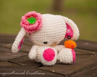 Crochet Easter Bunny, Crochet White Bunny, White Easter Bunny, White Plush Bunny,