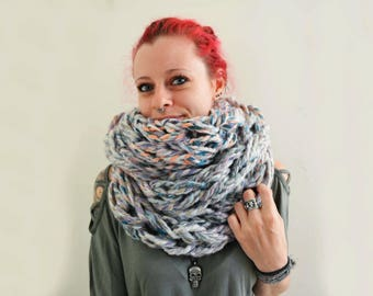 Infinity scarf pastel colours