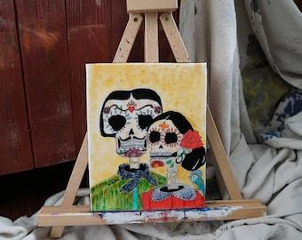 Acrylic On Canvas. High Gloss Finish. Amor. 8x10