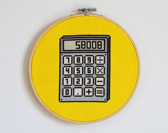 "Calculator ""58008"" Cross Stitch Pattern"