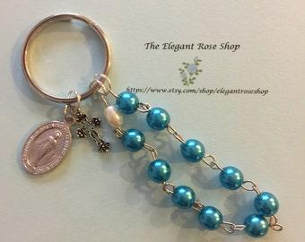 Handmade One Decade Rosary Keychain