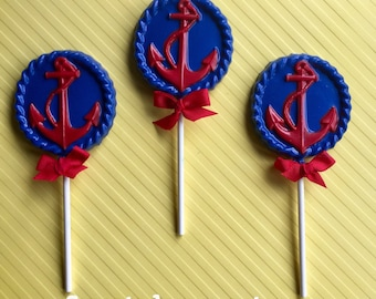 ANCHOR Chocolate Pops(12)- Nautical Party/Nautical Party Favors