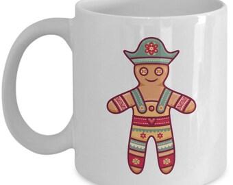 Gingerbread Man Christmas Ornament Gift Mug