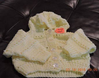 Yellow 12mo Button up Sweater