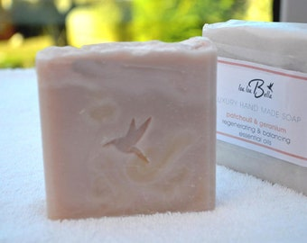 Natural olive oil soap - Patchouli & Geranium