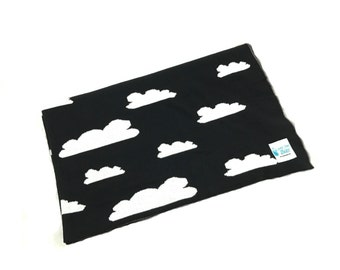 Reversible Knitted Cotton Blanket/Throw - Clouds