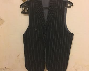 Pinstriped Dark Blue Mens vest