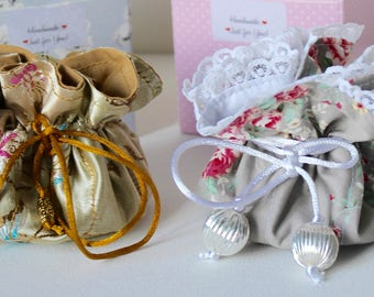 Travel Jewellery Pouch/Wedding Favour Pouch