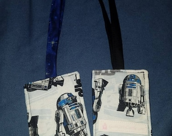 Luggage Tag - R2D2 Blue