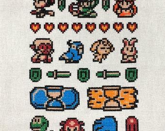 Legend of Zelda - Oracle of Ages Sampler - Cross Stitch PATTERN