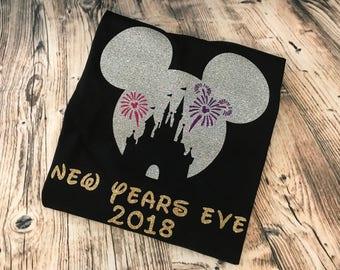 Disney Inspired New Years Eve tee shirt 2017/2018