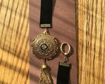BookMark Jewelry; Gold Tone Medal and Tassel